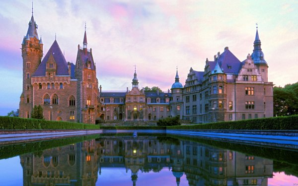 Man Made Moszna Castle Castles Poland Castle Reflection Architecture HD Wallpaper | Background Image