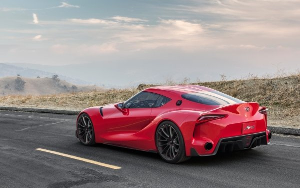 Vehicles Toyota FT-1 Toyota Supercar Car Concept Car Red Car HD Wallpaper | Background Image