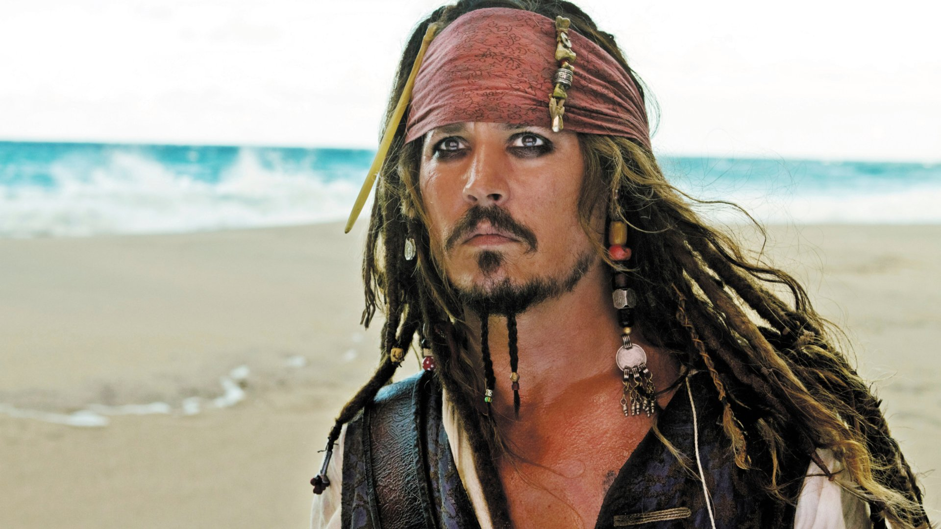 Movie - Pirates of the Caribbean: On Stranger Tides  Pirate Jack Sparrow Johnny Depp Wallpaper