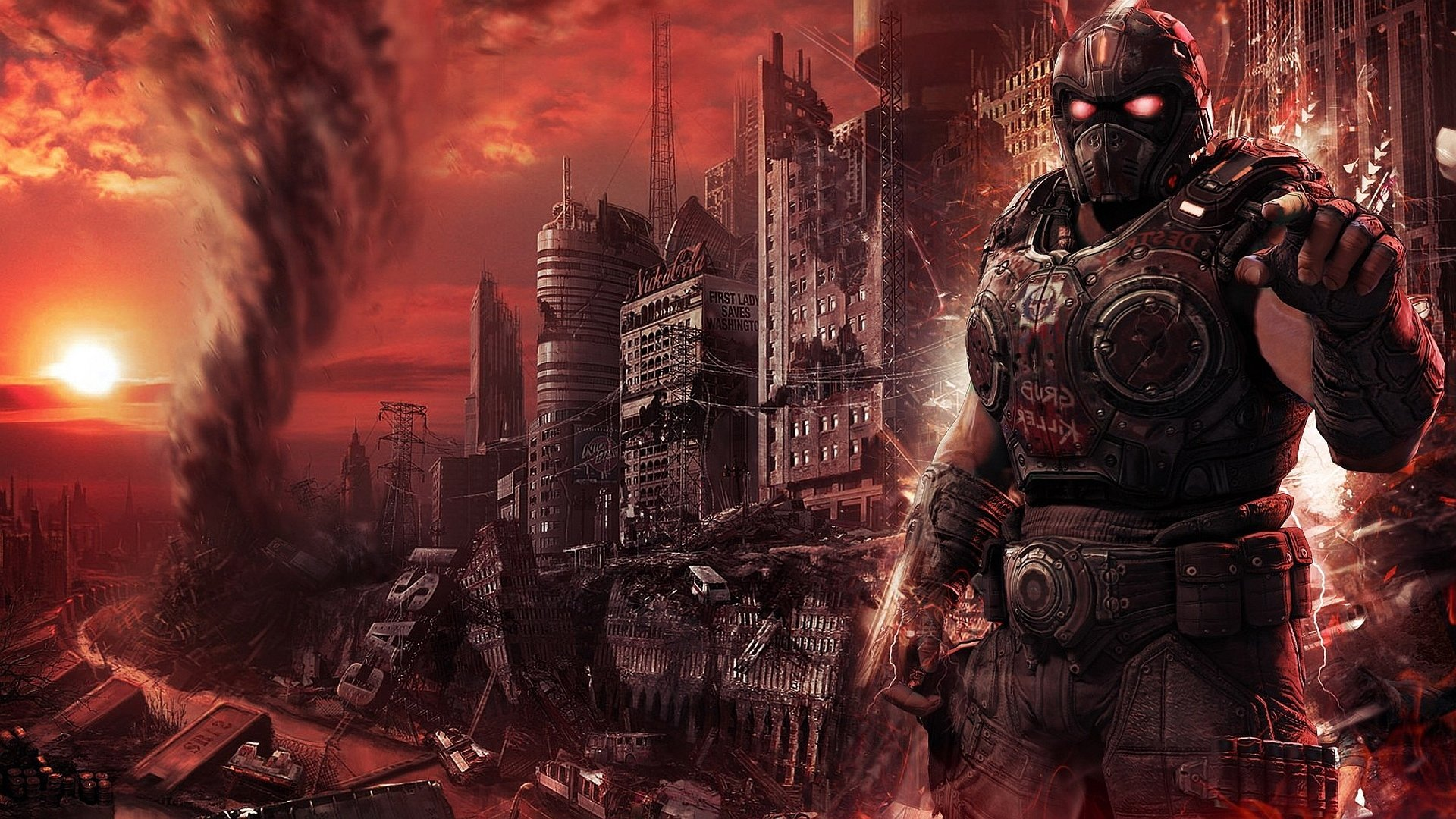 Video Game - Crossover  Fallout Gear Of War Wallpaper