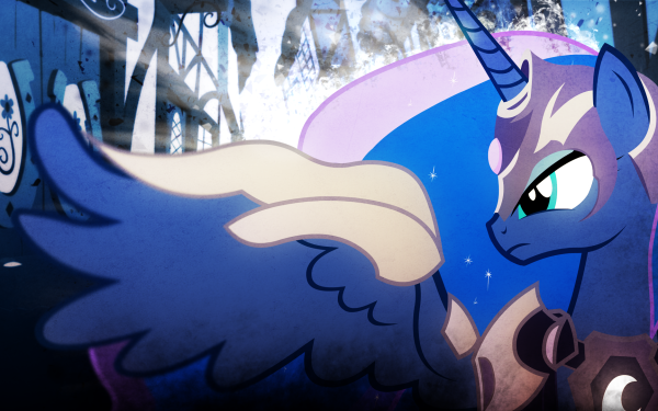 TV Show My Little Pony: Friendship is Magic My Little Pony Princess Luna Vector HD Wallpaper   Background Image
