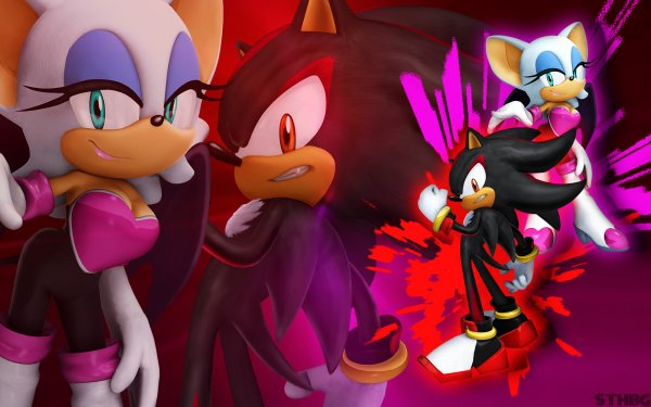 Video Game Sonic the Hedgehog (2006) Sonic Shadow the Hedgehog Rouge the Bat HD Wallpaper | Background Image