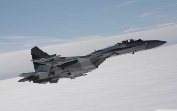 Military Sukhoi Su-35 Jet Fighters Airplane HD Wallpaper   Background Image