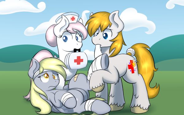 TV Show My Little Pony: Friendship is Magic My Little Pony Nurse Redheart Derpy Hooves HD Wallpaper | Background Image