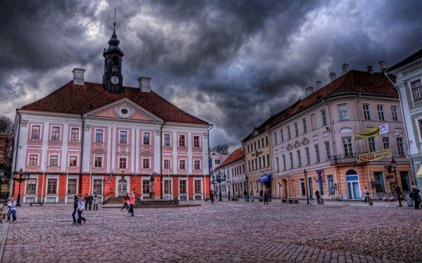 Man Made Tartu Cities Estonia Town Hall HD Wallpaper | Background Image