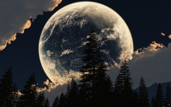 Earth - Moon Wallpapers and Backgrounds ID : 509417