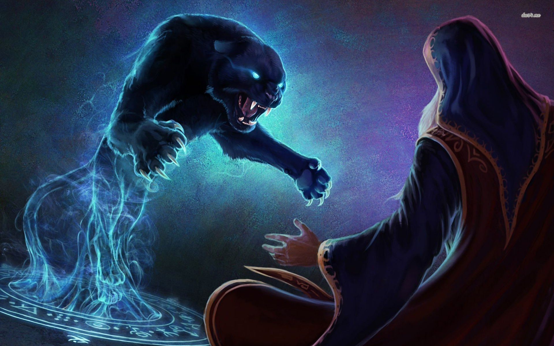 Attractive Fantasy   Animal Panther Wallpaper Ideas