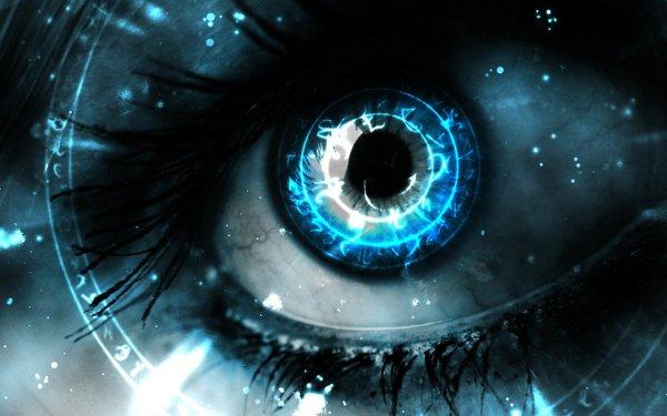 Artistic Eye CGI Blue Close-Up Bright HD Wallpaper | Background Image