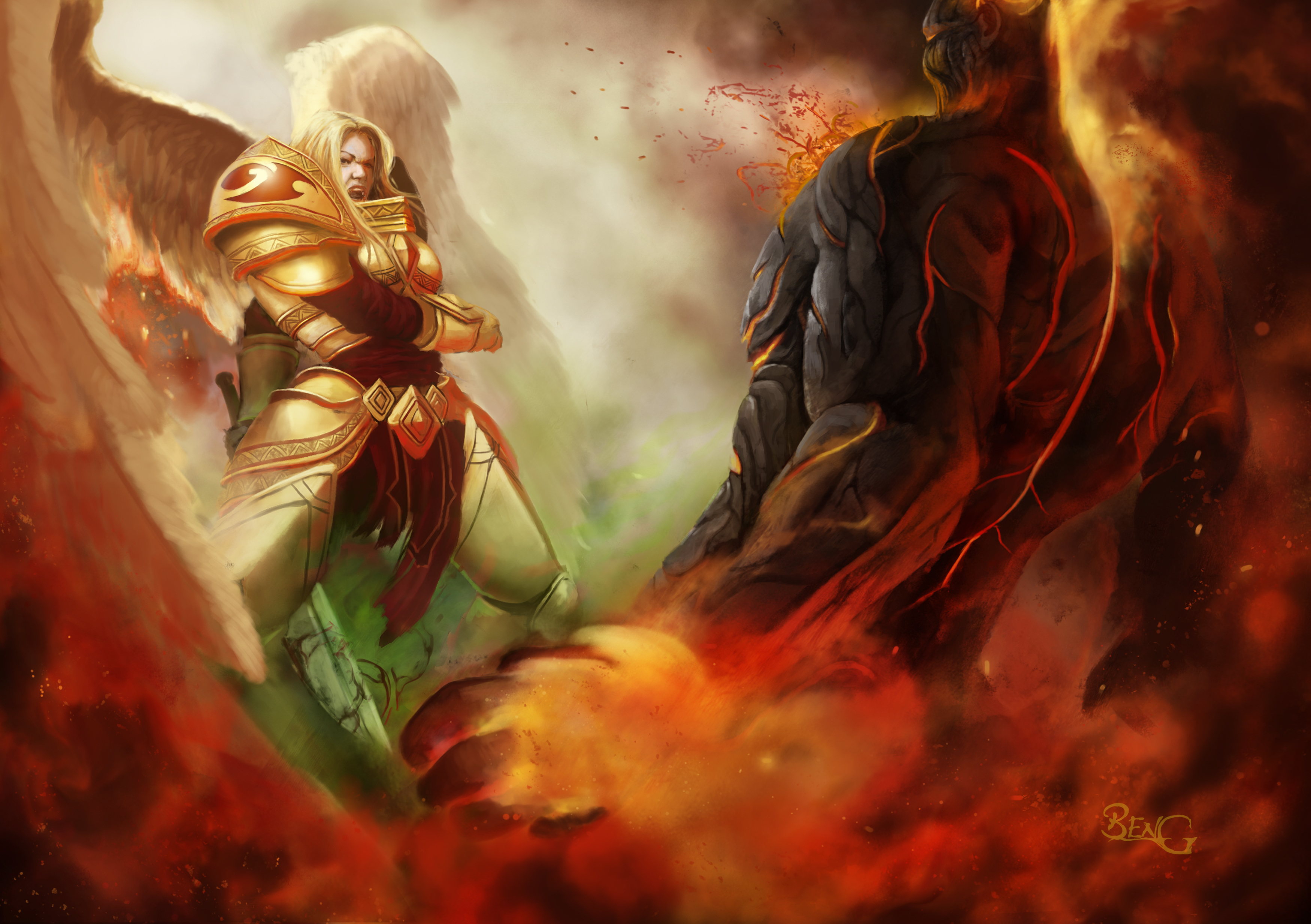 duel kayle vs brand hd wallpaper background image 3500x2467