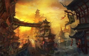 Fantasy - City Wallpapers and Backgrounds ID : 516509