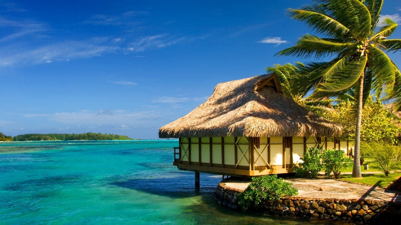 Tropical Paradise Wallpaper And Background Image 1366x768 Id