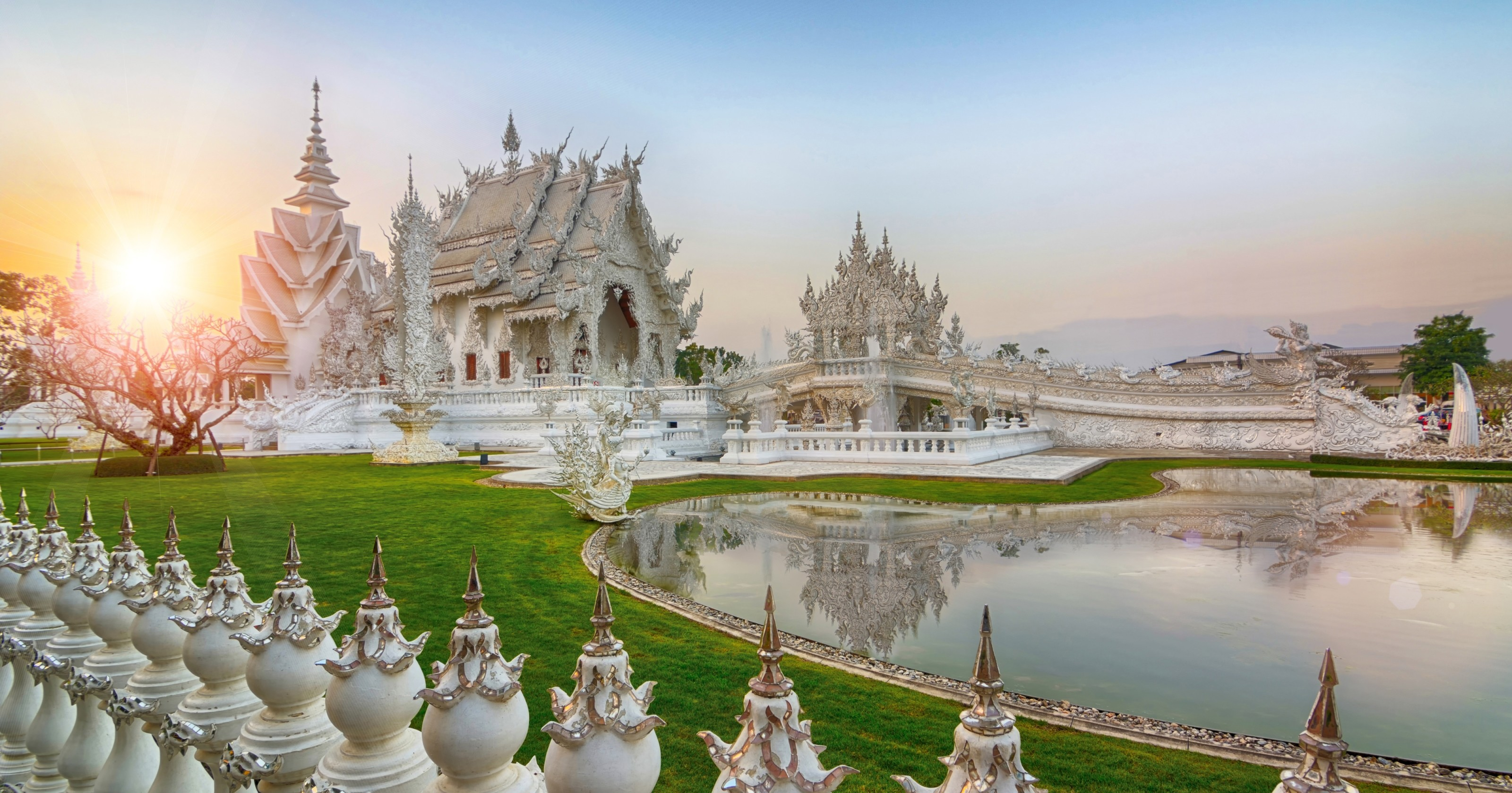 Wat rong khun white temple full hd wallpaper and for Thai wallpaper gallery