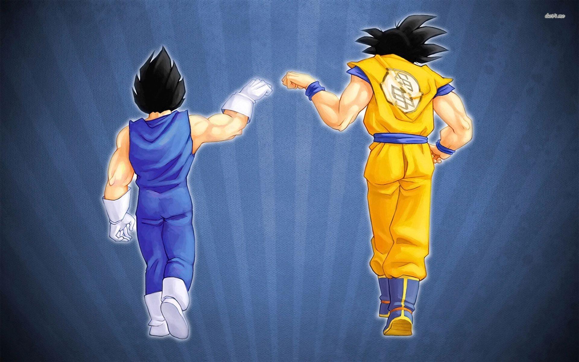 Goku And Vegeta Full Hd Fondo De Pantalla And Fondo De: Goku And Vegeta Fist Bump HD Wallpaper