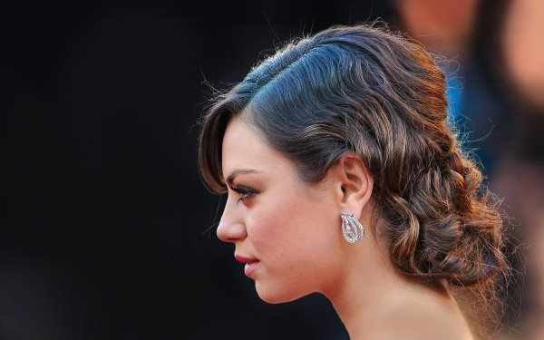 Celebrity Mila Kunis Actresses United States Profile Hair Earrings Face HD Wallpaper | Background Image