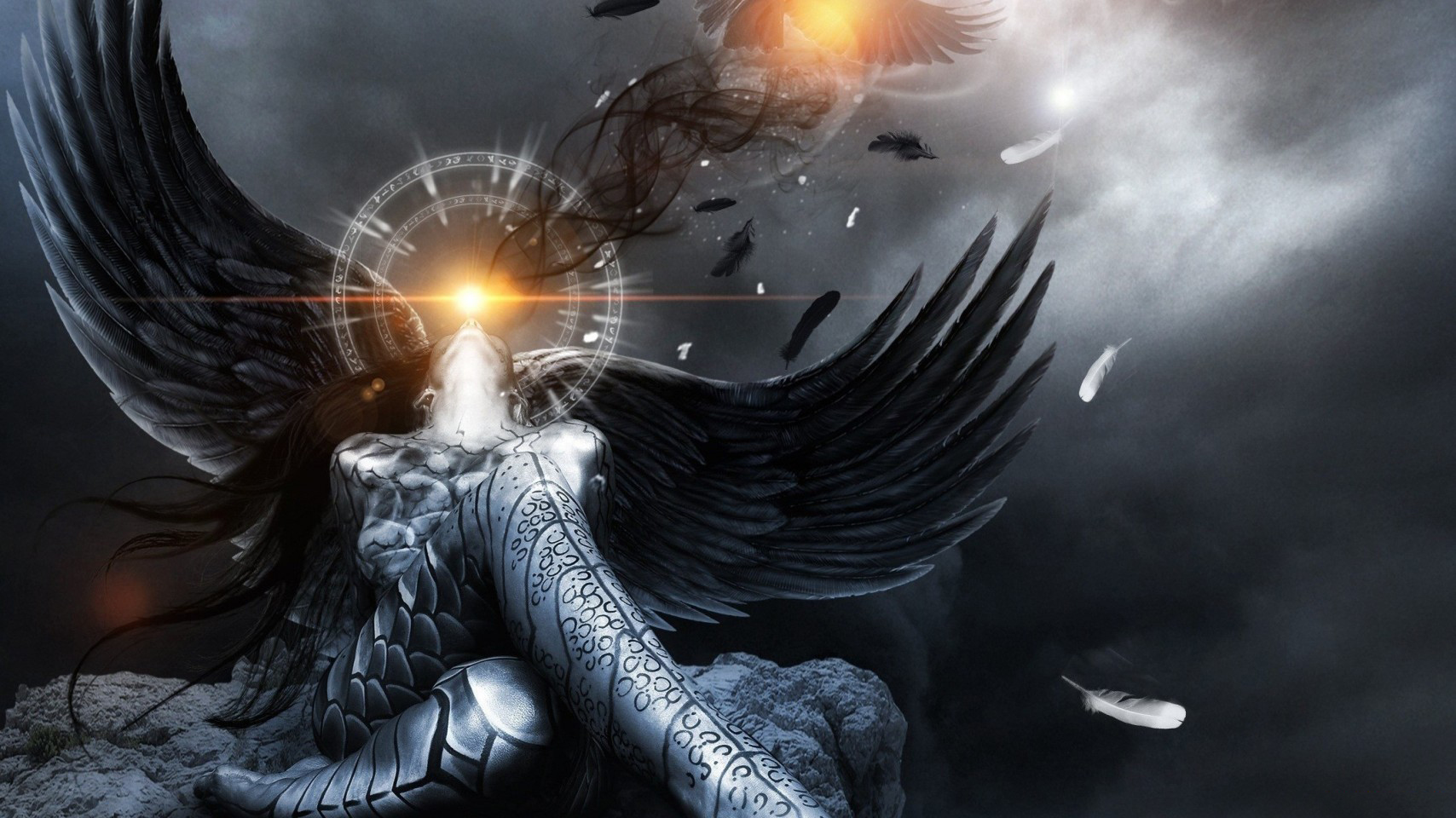 Angel wallpaper and background image 1708x960 id - Dark gothic angel wallpaper ...