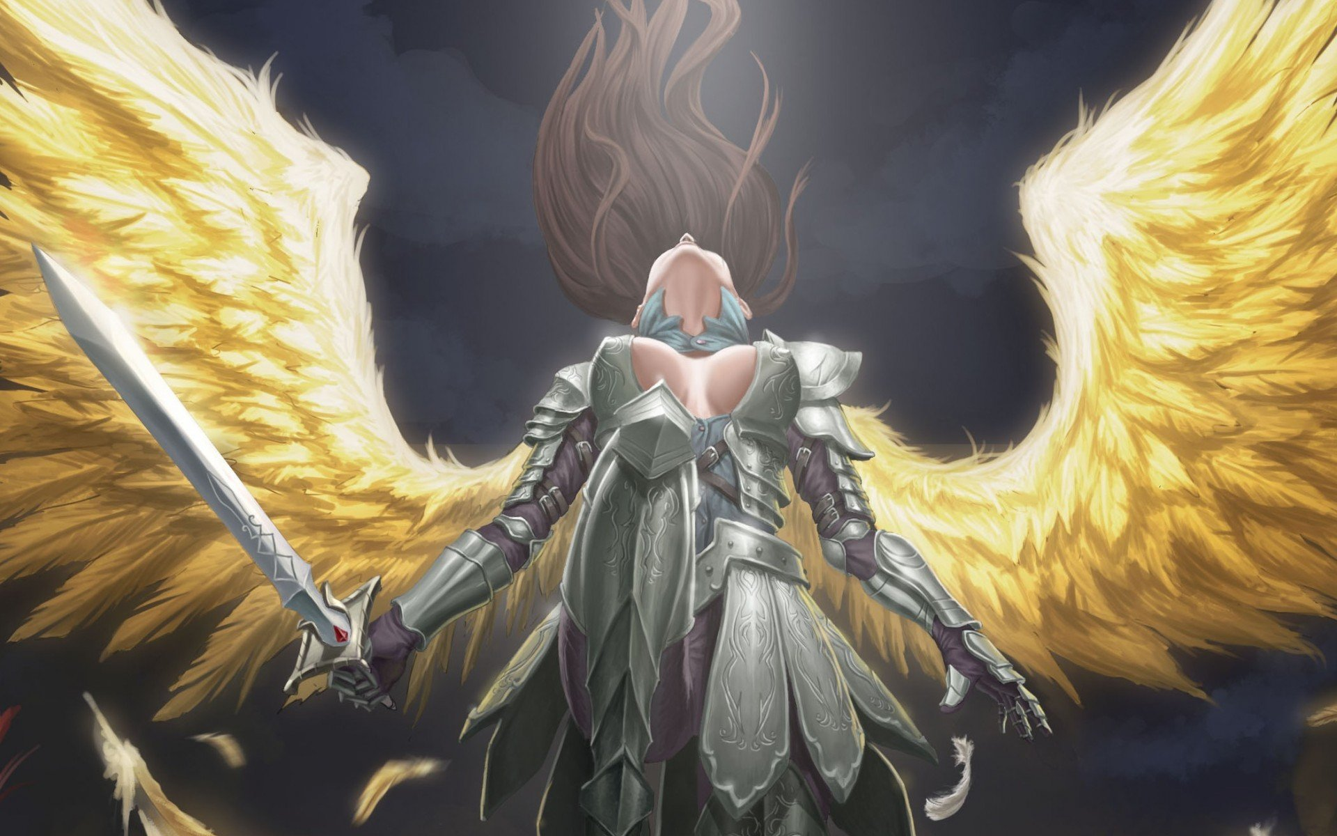Warrior Fantasy Art Armor Angel Magic Wallpapers Hd: Angel Warrior Full HD Wallpaper And Background Image