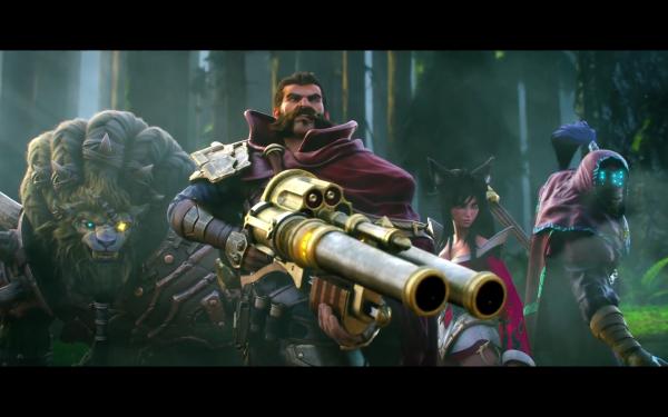 Videojuego League Of Legends Ahri Rengar Jax Graves Fondo de pantalla HD | Fondo de Escritorio