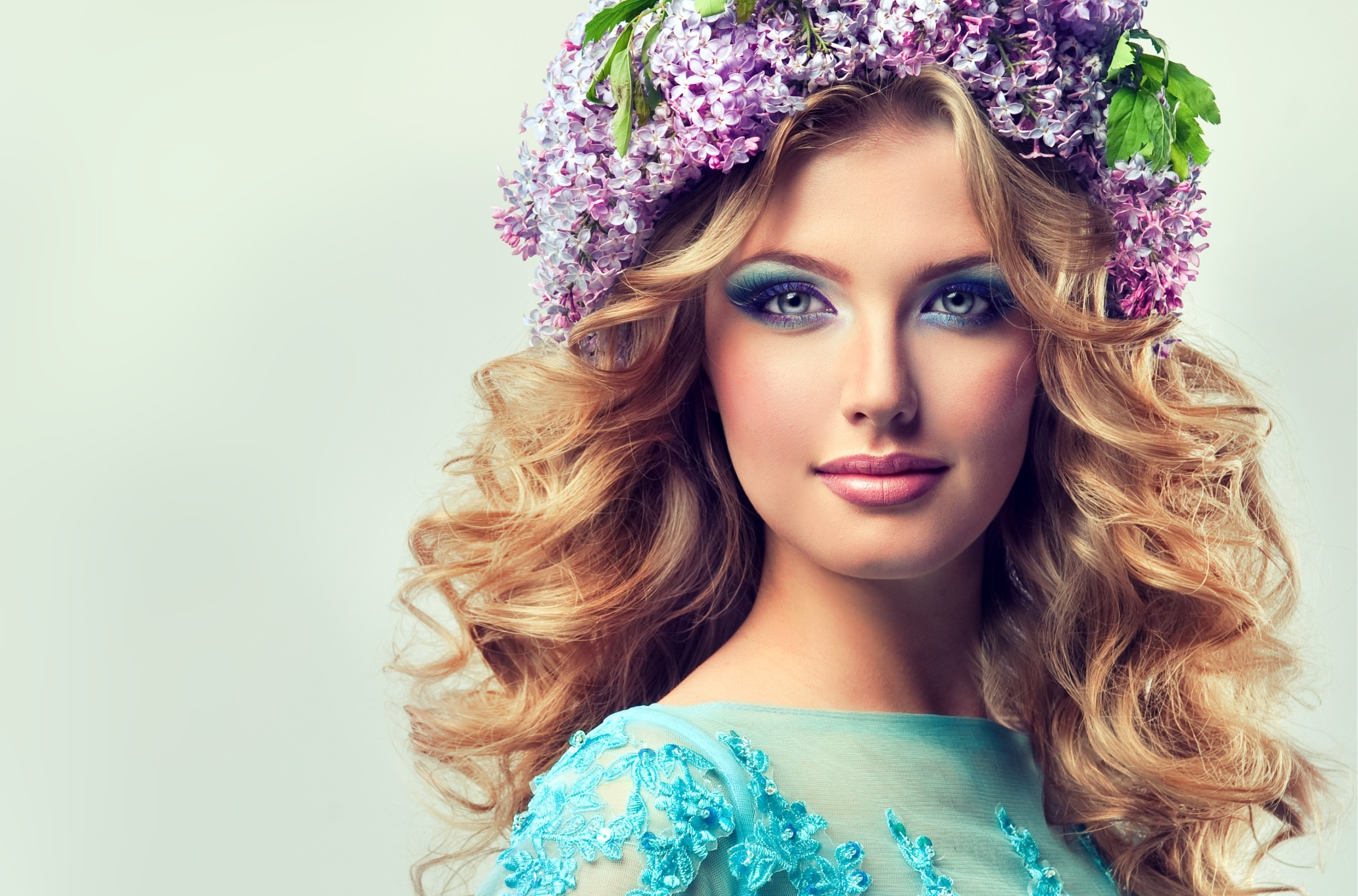 Beautiful model of flowers lilac with curly long hair hd wallpaper wallpapers id527172 izmirmasajfo