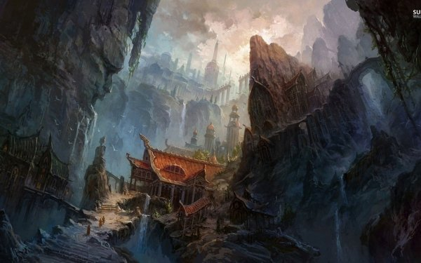 Fantasy Temple HD Wallpaper | Background Image