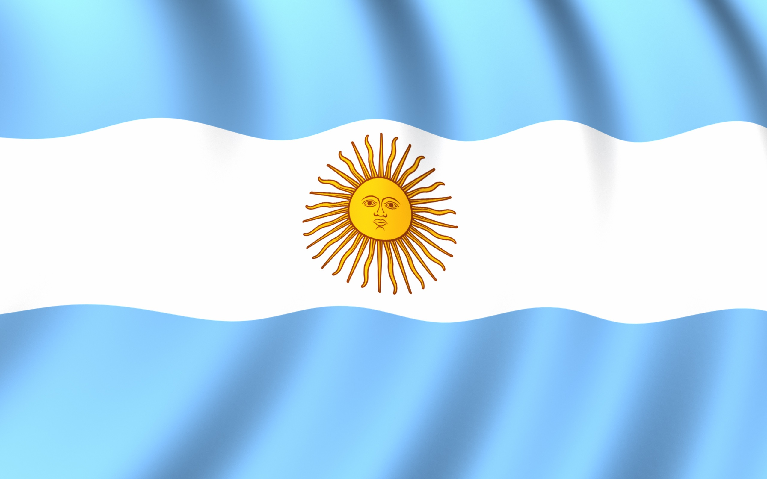 Flag Of Argentina Hd Wallpaper Background Image 2560x1600 Id