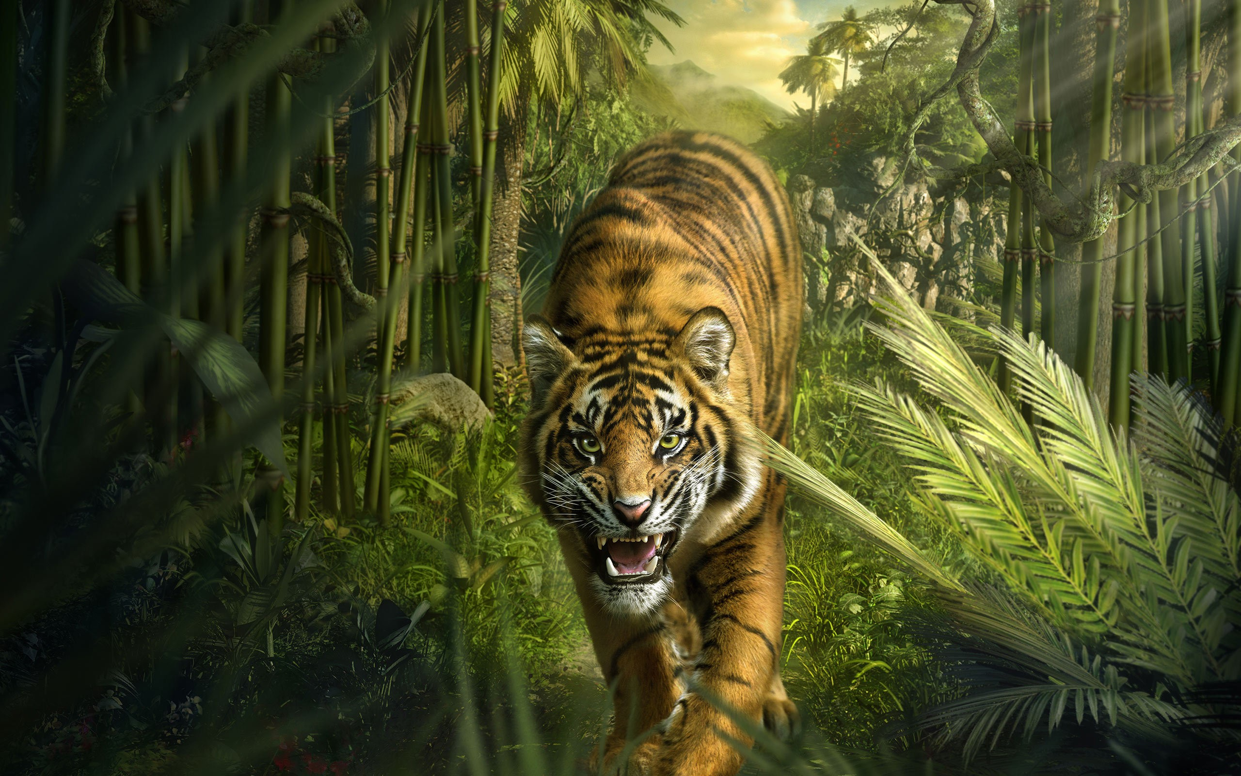 Tiger hd wallpaper background image 2560x1600 id 530686 wallpaper abyss - Tiger hd wallpaper for pc ...