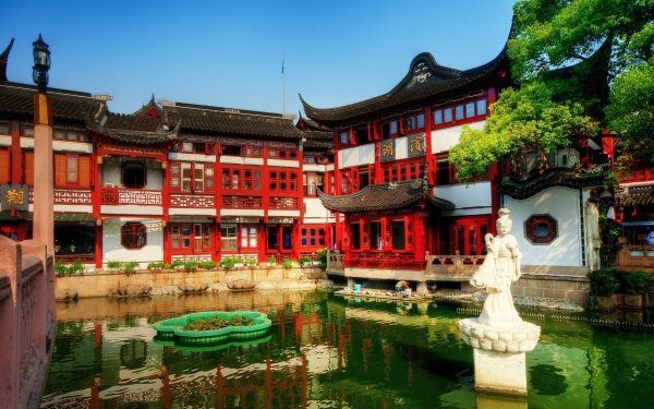 Man Made Tea Palace Palaces China Palace Shanghai HD Wallpaper | Background Image