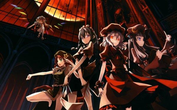 Anime Touhou Remilia Scarlet Flandre Scarlet Hong Meiling Sakuya Izayoi Patchouli Knowledge HD Wallpaper | Background Image