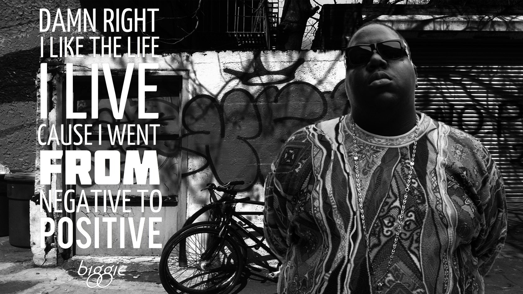 biggie smalls negative to positve wallpaper and background
