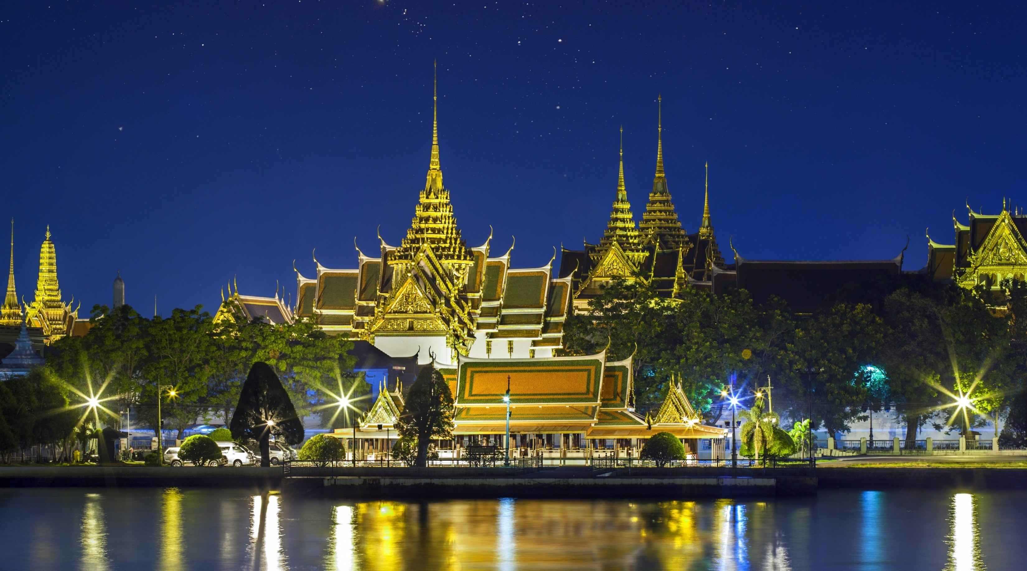 Grand palace bangkok thailand full hd wallpaper and for Thai wallpaper gallery