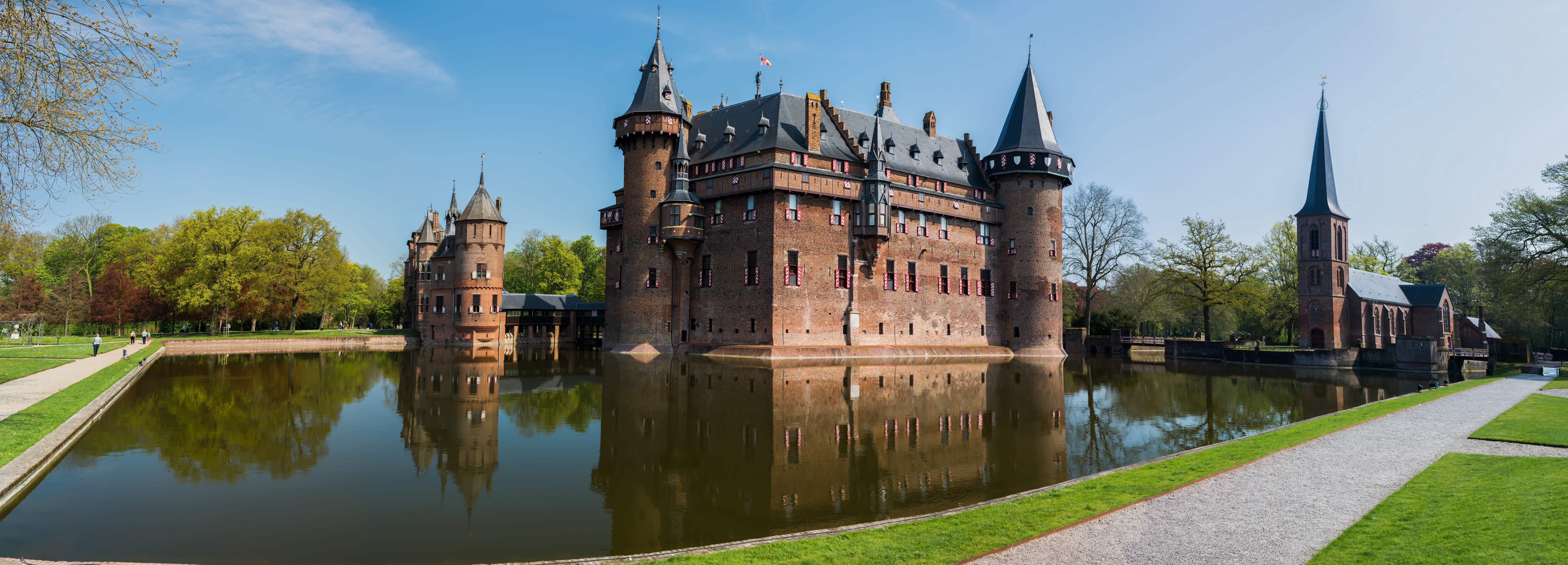 Обои нидерланды, замок, утрехт. Города foto 18