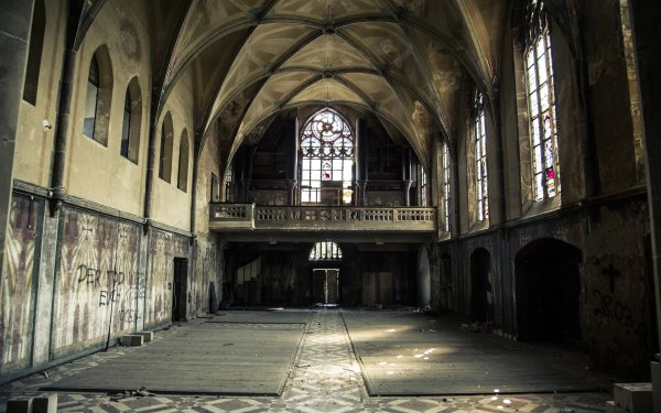 Man Made Ruin HDR Urban Germany Rust HD Wallpaper | Background Image