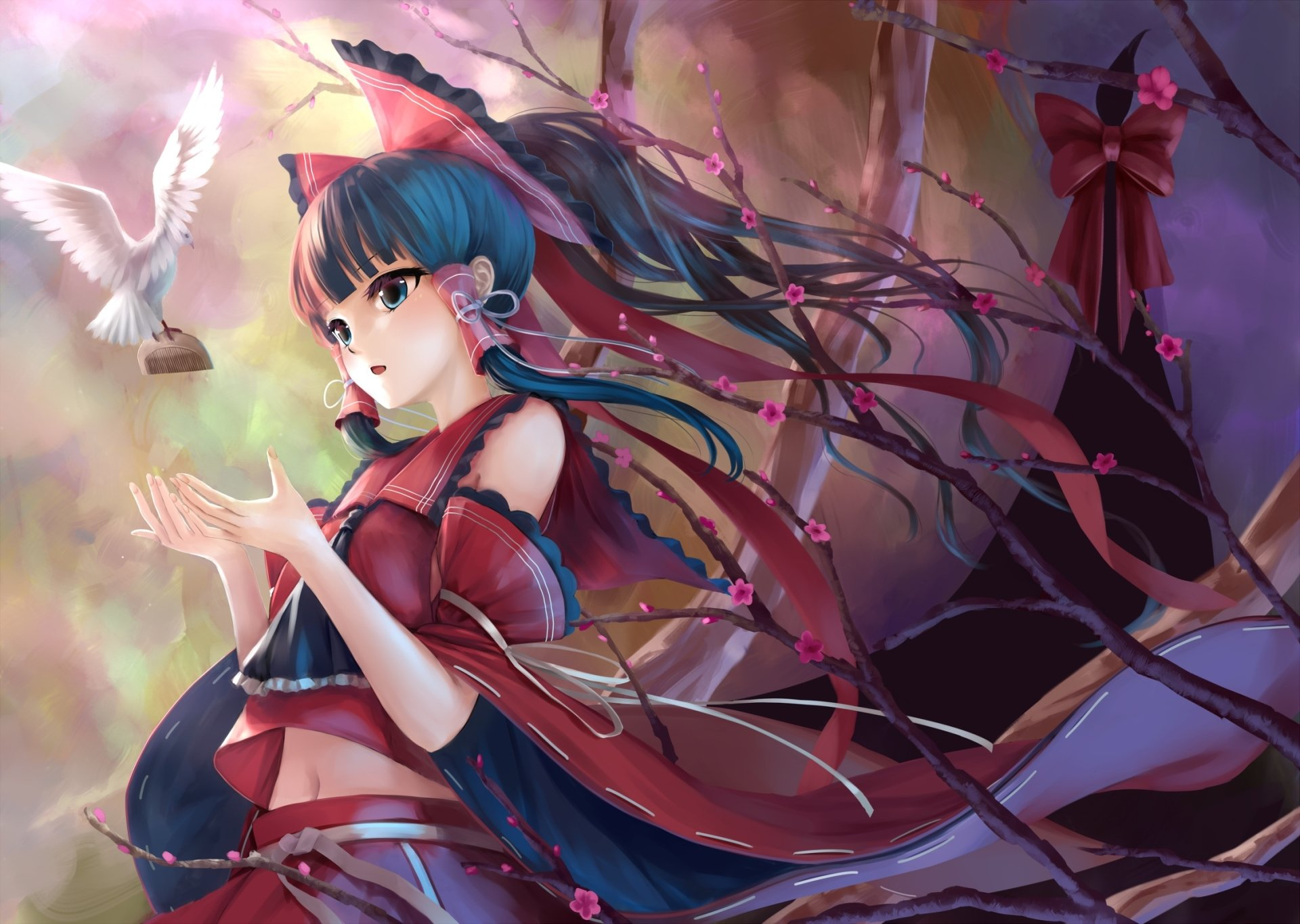 Anime - Touhou  Reimu Hakurei Wallpaper