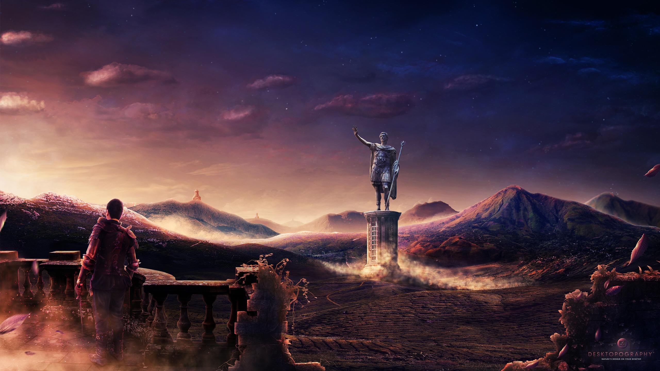 Desktop artwork wallpapers per computer sfondi per il for Paesaggi fantasy immagini