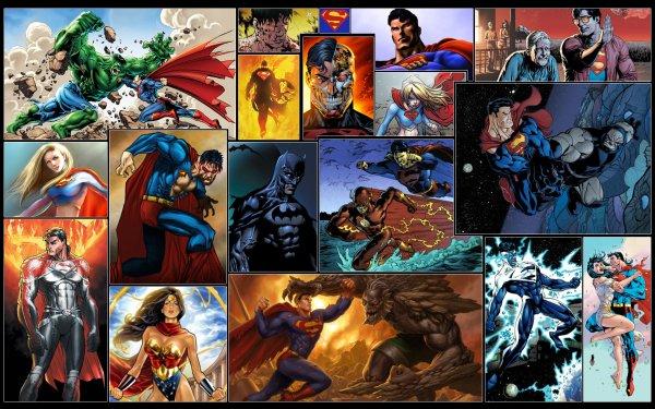 Comics Superman Wonder Woman Flash Hulk Lois Lane Supergirl Doomsday Darkseid Cyborg Superman Clark Kent Jonathan Kent Batman DC Comics HD Wallpaper | Background Image