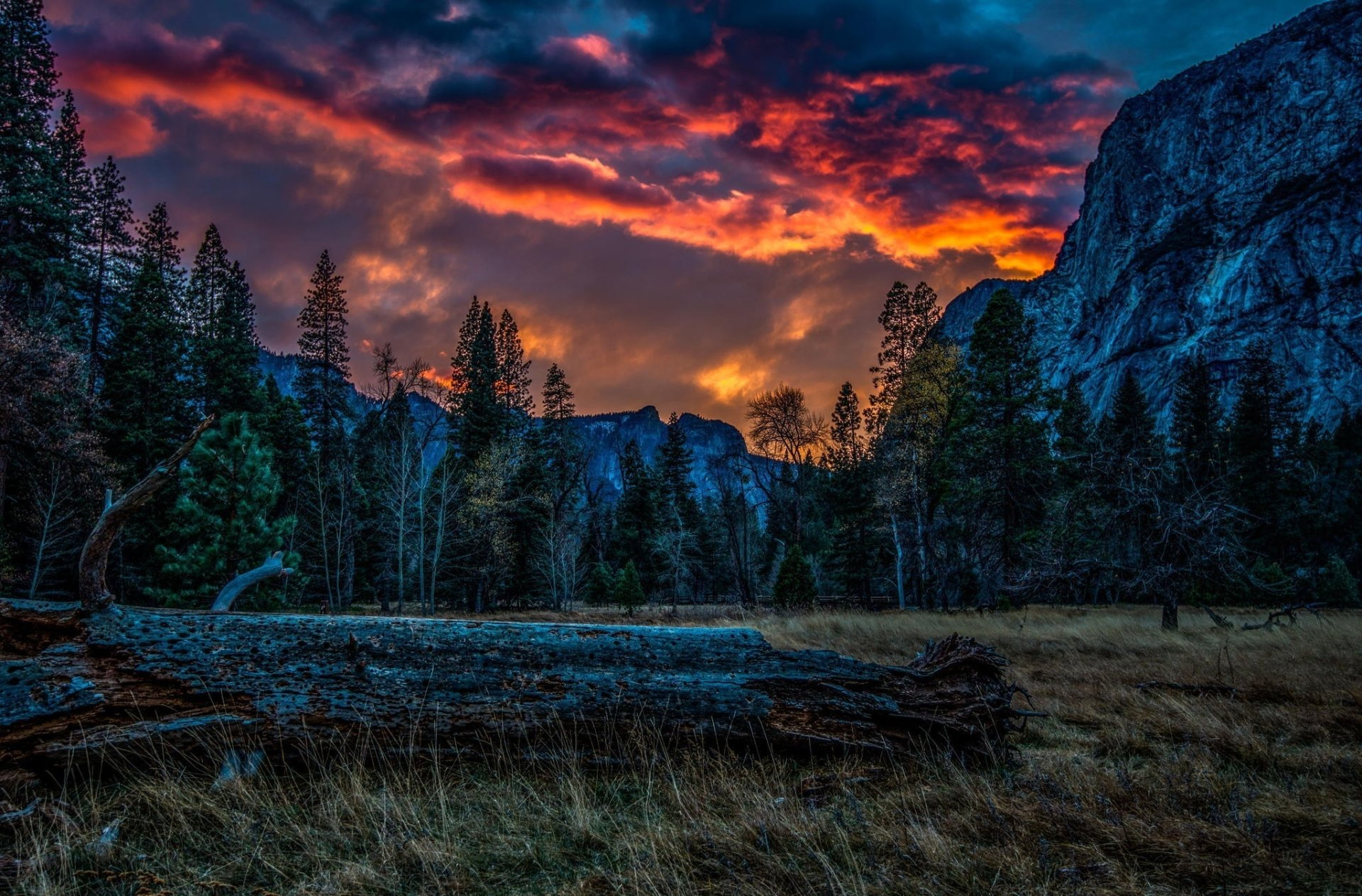 Photography - HDR  Sunset Cloud Mountain Wallpaper