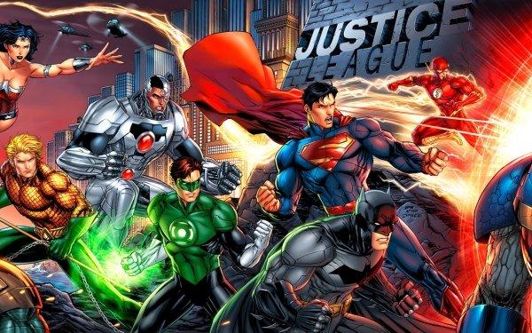 Comics Justice League DC Comics Aquaman Flash Superman Green Lantern Batman Wonder Woman Cyborg Hal Jordan Barry Allen HD Wallpaper | Background Image