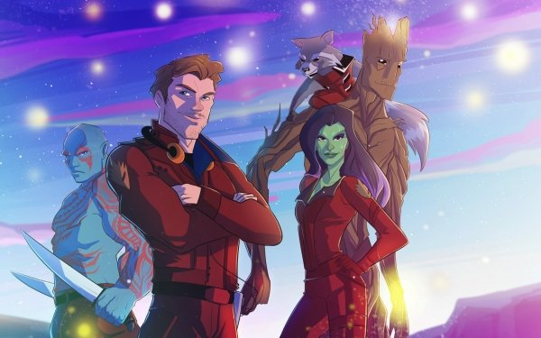 TV Show Marvel's Guardians of the Galaxy Drax The Destroyer Peter Quill Gamora Groot Rocket Raccoon Star Lord HD Wallpaper   Background Image