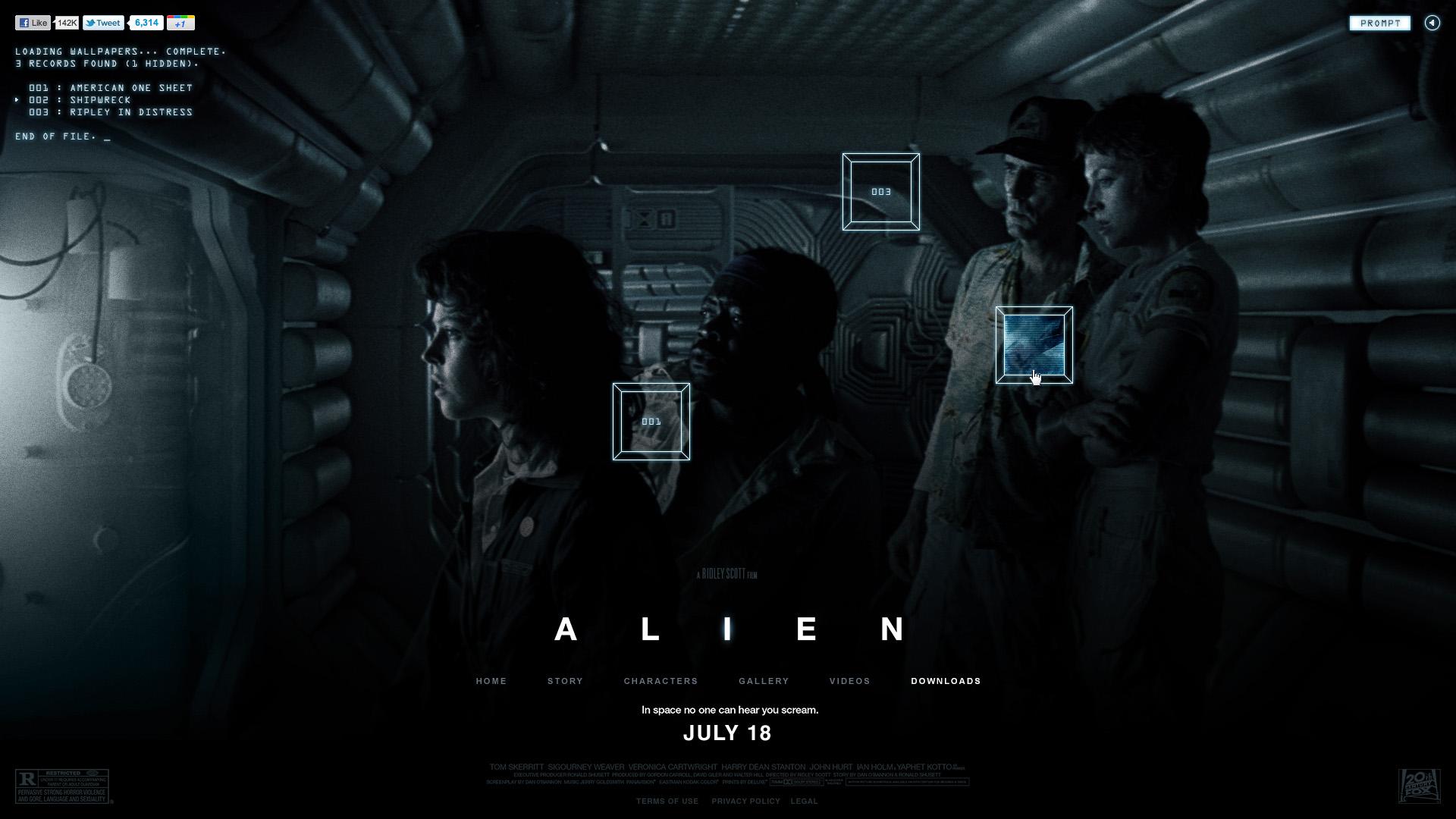 10 New Horror Movie Wallpaper Hd Full Hd 1920 1080 For Pc: Alien HD Wallpaper