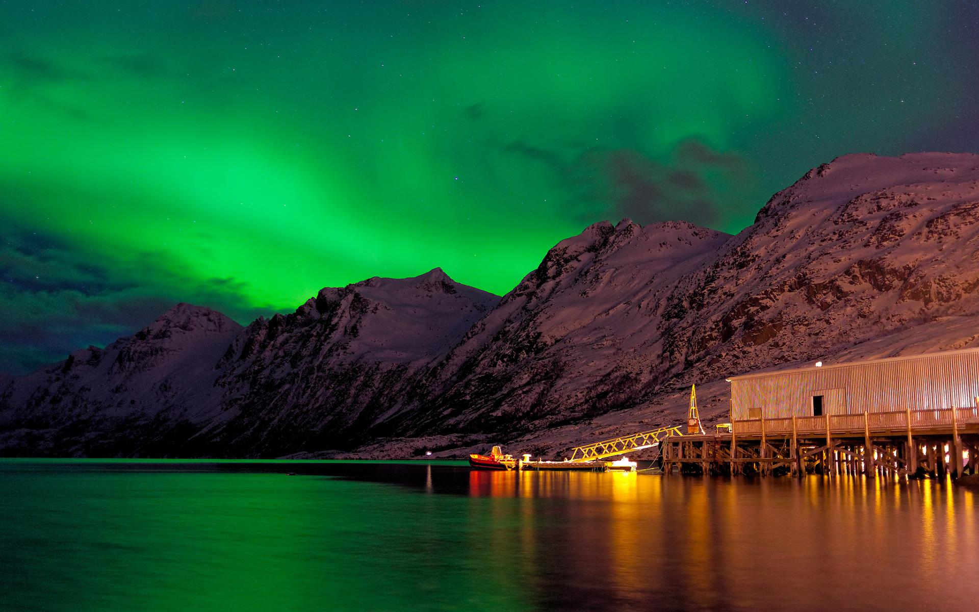 Plano De Fundo Full Hd: Aurora Boreal Papel De Parede HD