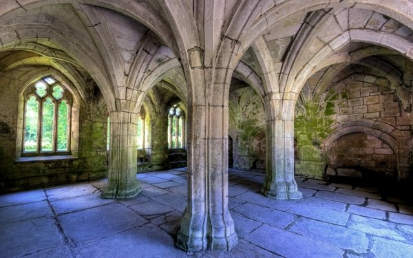 Religious Valle Crucis Abbey HD Wallpaper | Background Image