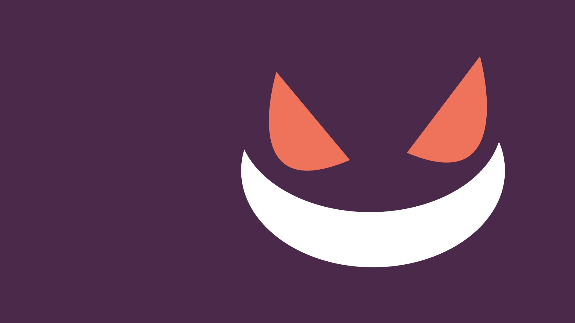 Video Game - Pokémon  Gengar (Pokémon) Minimalist Wallpaper