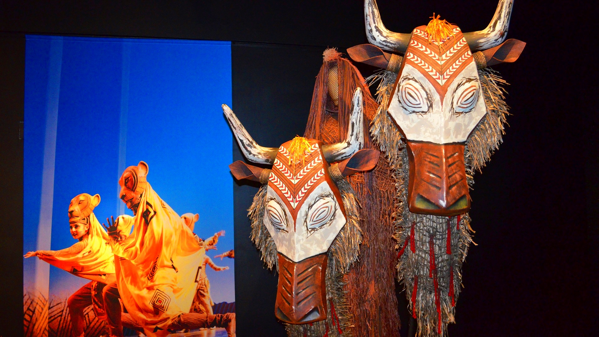 Wildebeest Mask From The Lion King Musical Exhibit In
