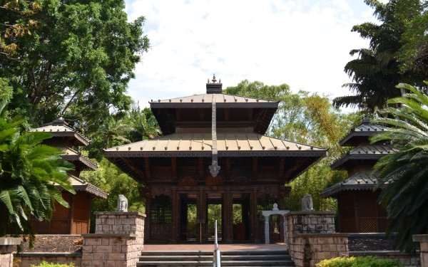 Man Made Nepalese Pagoda Nepalese Pagoda Brisbane Building Australia Buddhist Temple HD Wallpaper   Background Image