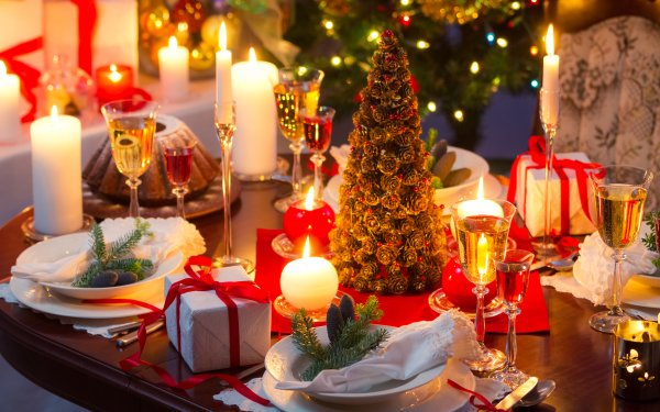 Holiday Christmas Champagne HD Wallpaper   Background Image