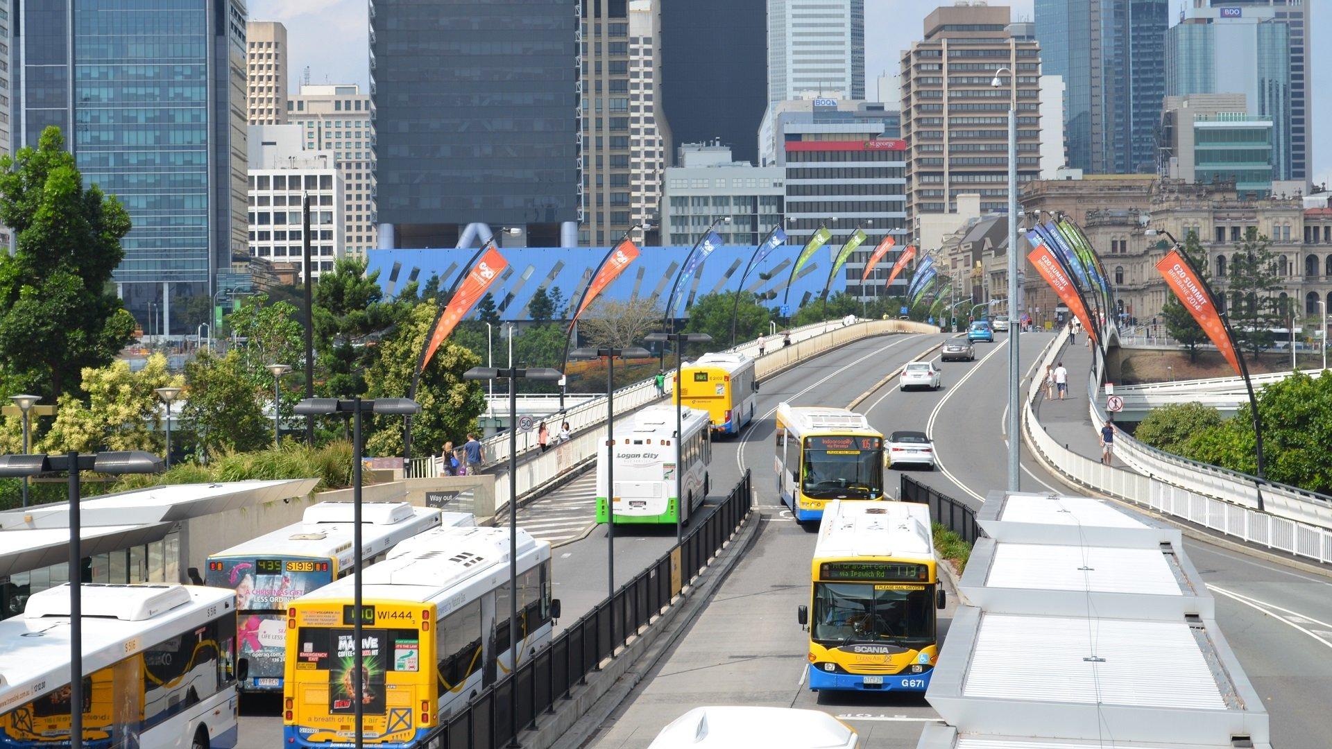 Man Made - Brisbane  Australia Building Queensland Bus Road Vehicle Wallpaper