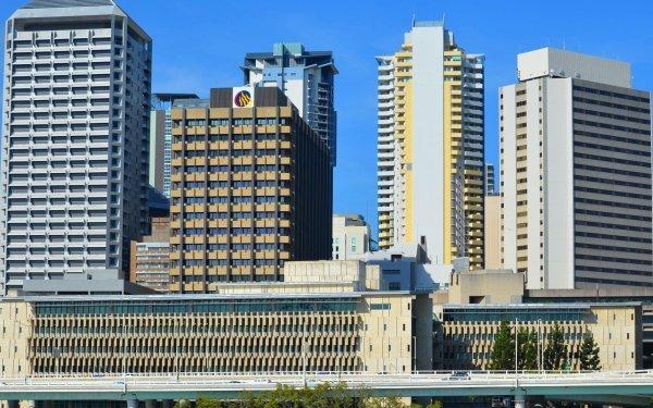 Man Made Brisbane Cities Australia City Building Highway Skyscraper Queensland HD Wallpaper | Background Image