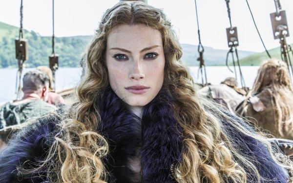 TV Show Vikings Aslaug Alyssa Sutherland HD Wallpaper | Background Image