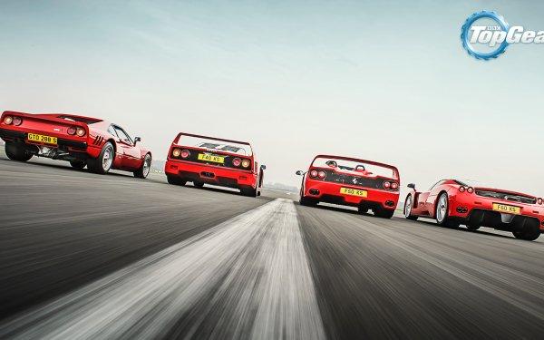 TV Show Top Gear Ferrari F40 Ferrari F50 Ferrari 288 GTO HD Wallpaper | Background Image