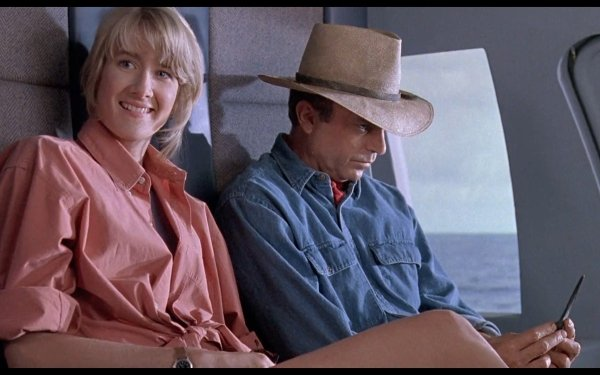Movie Jurassic Park Ellie Sattler Alan Grant Laura Dern Sam Neill HD Wallpaper | Background Image