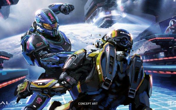 Videospel Halo 5: Guardians Halo HD Wallpaper | Achtergrond